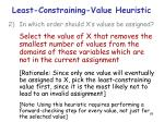 least constraining value heuristic