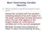 most constraining variable heuristic
