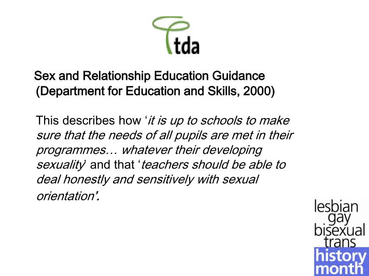 Sex and Relationship Education Guidance (Department for Education and Skills, 2000)