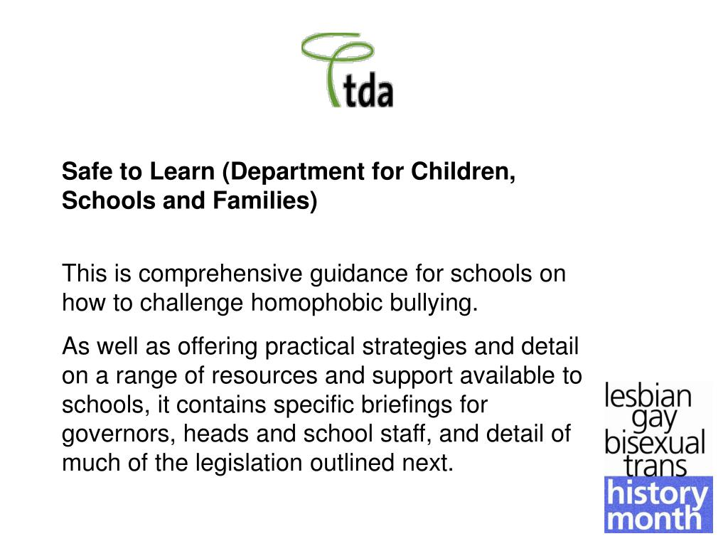 Safe to Learn (Department for Children, Schools and Families)