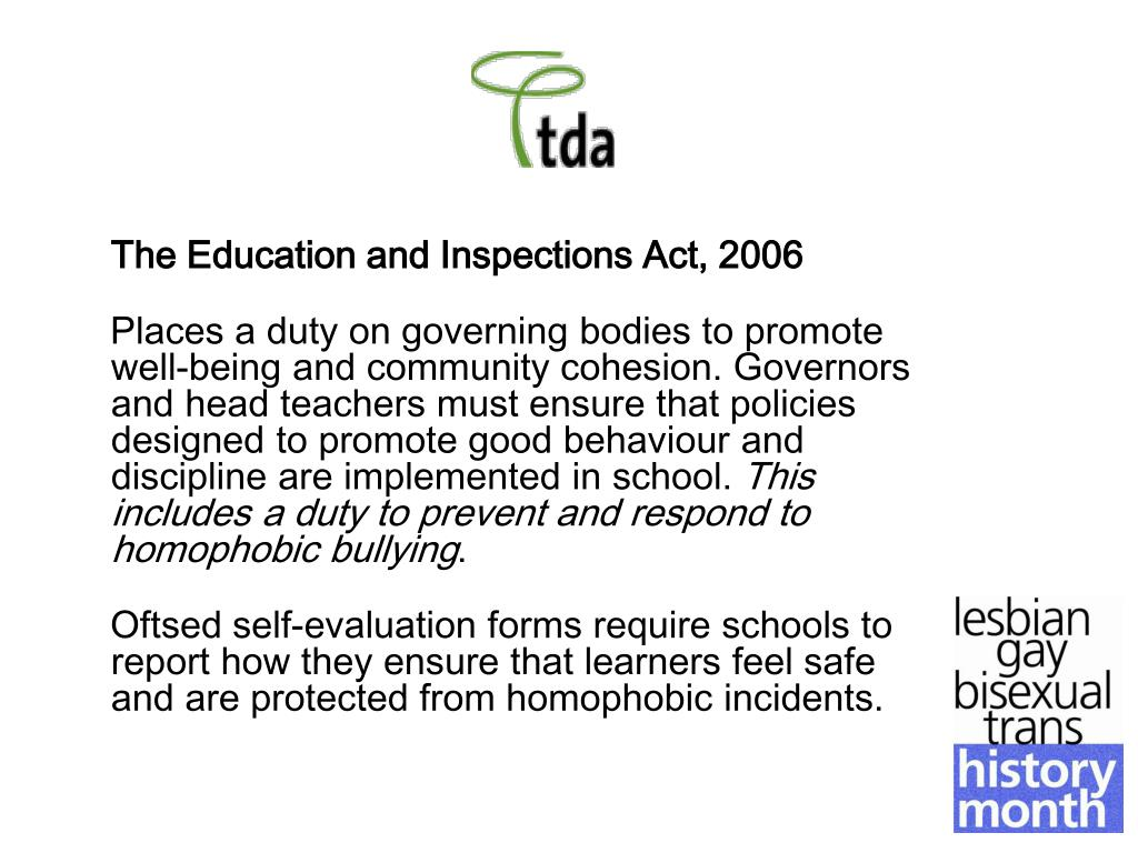 The Education and Inspections Act, 2006