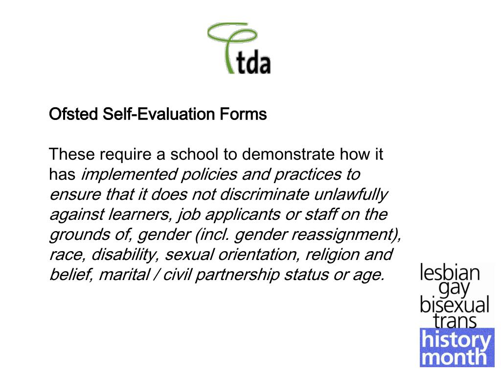 Ofsted Self-Evaluation Forms