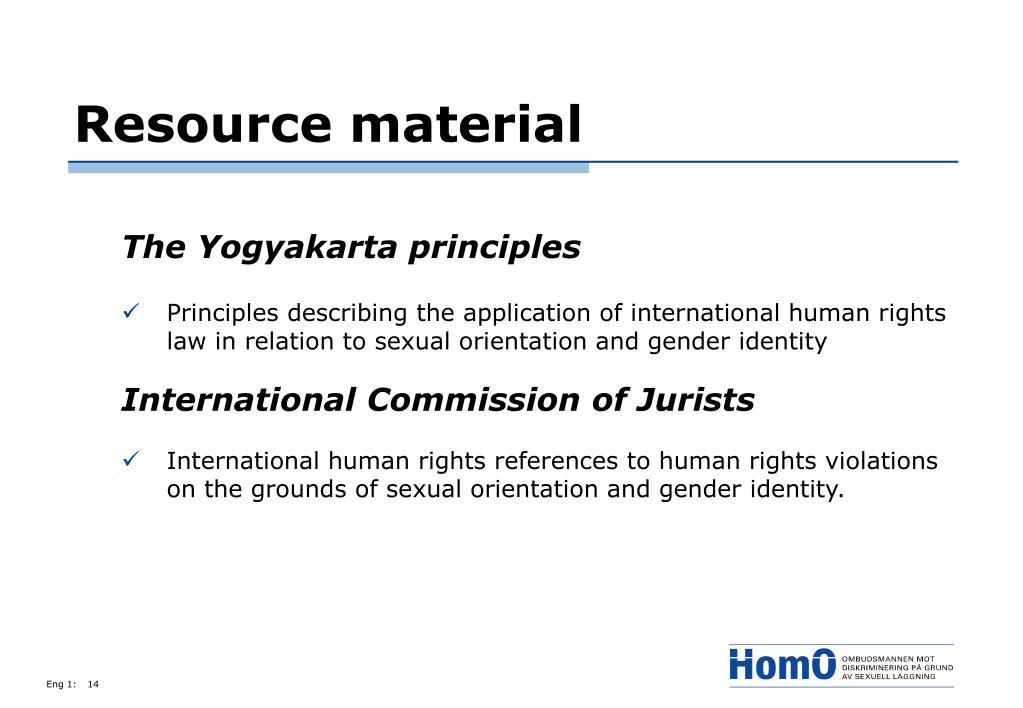 Resource material