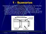 1 scenarios