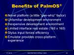 benefits of palmos