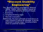 discount usability engineering