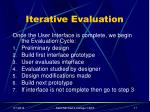 iterative evaluation