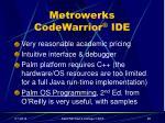 metrowerks codewarrior ide