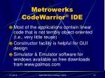 metrowerks codewarrior ide27