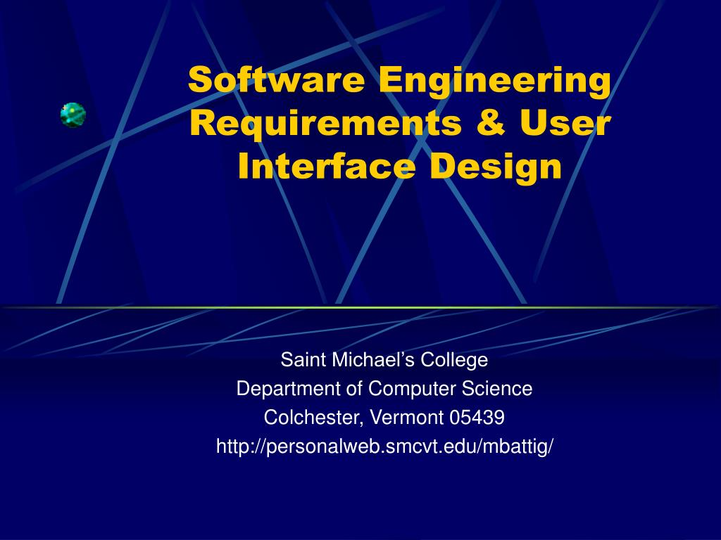 software engineering requirements user interface design l.