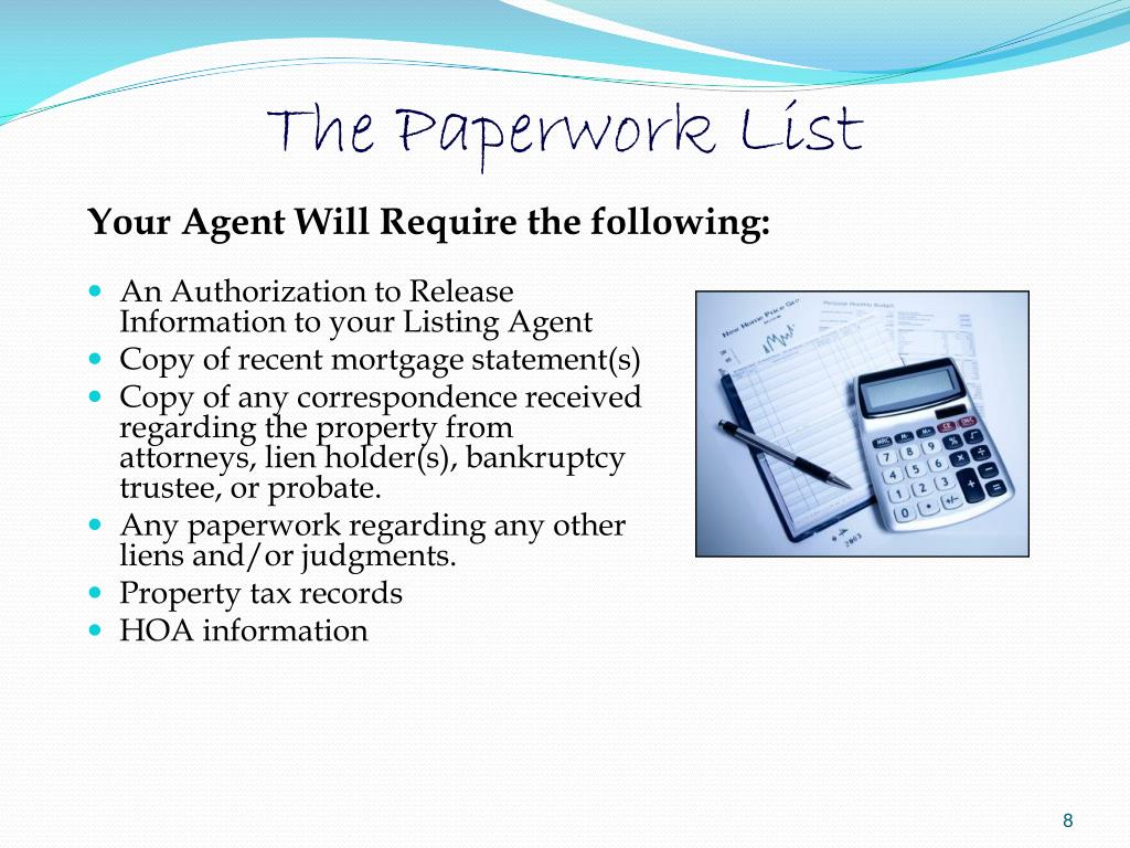 The Paperwork List