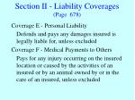 section ii liability coverages page 678