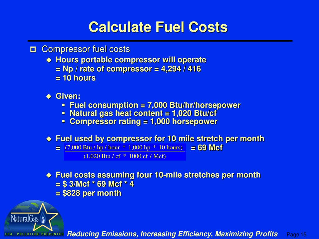 Calculate Fuel Costs