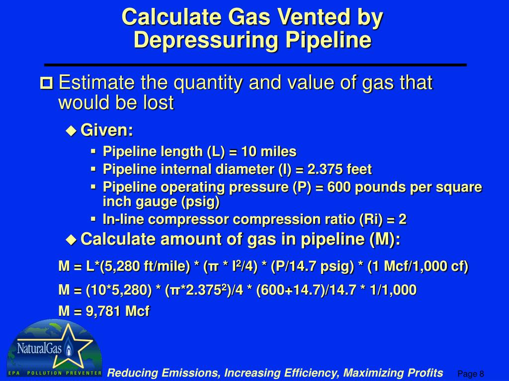 Calculate Gas Vented by