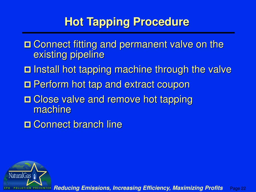 Hot Tapping Procedure