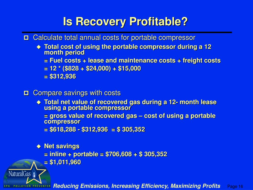 Is Recovery Profitable?