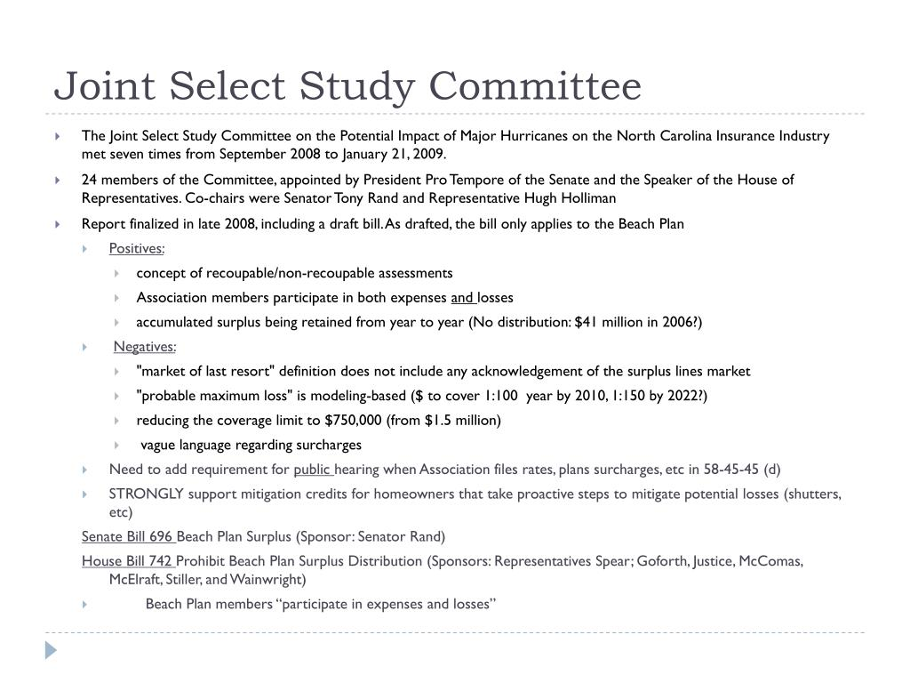 Joint Select Study Committee