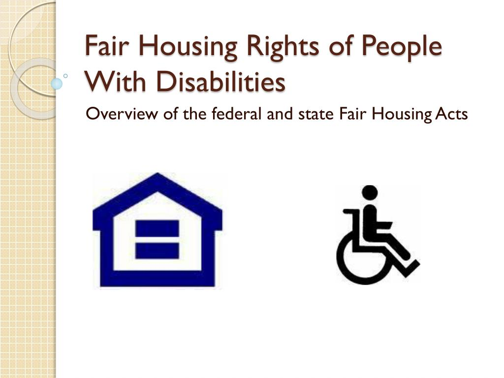 Fair Housing Rights of People With Disabilities