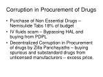 corruption in procurement of drugs