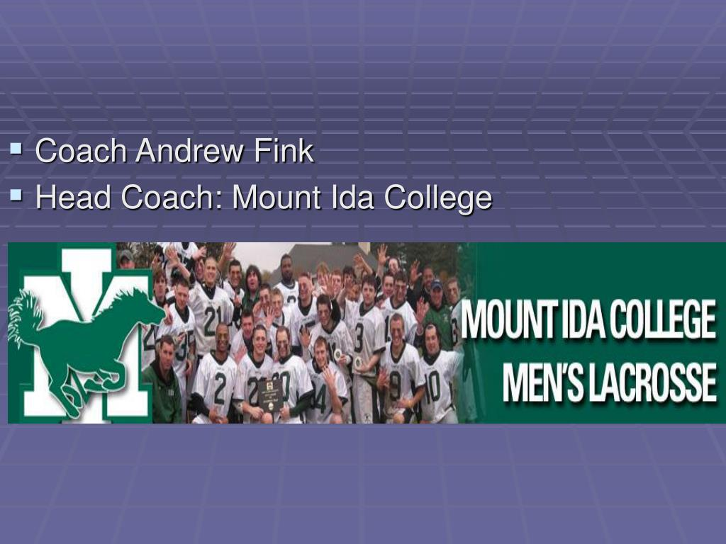 Coach Andrew Fink