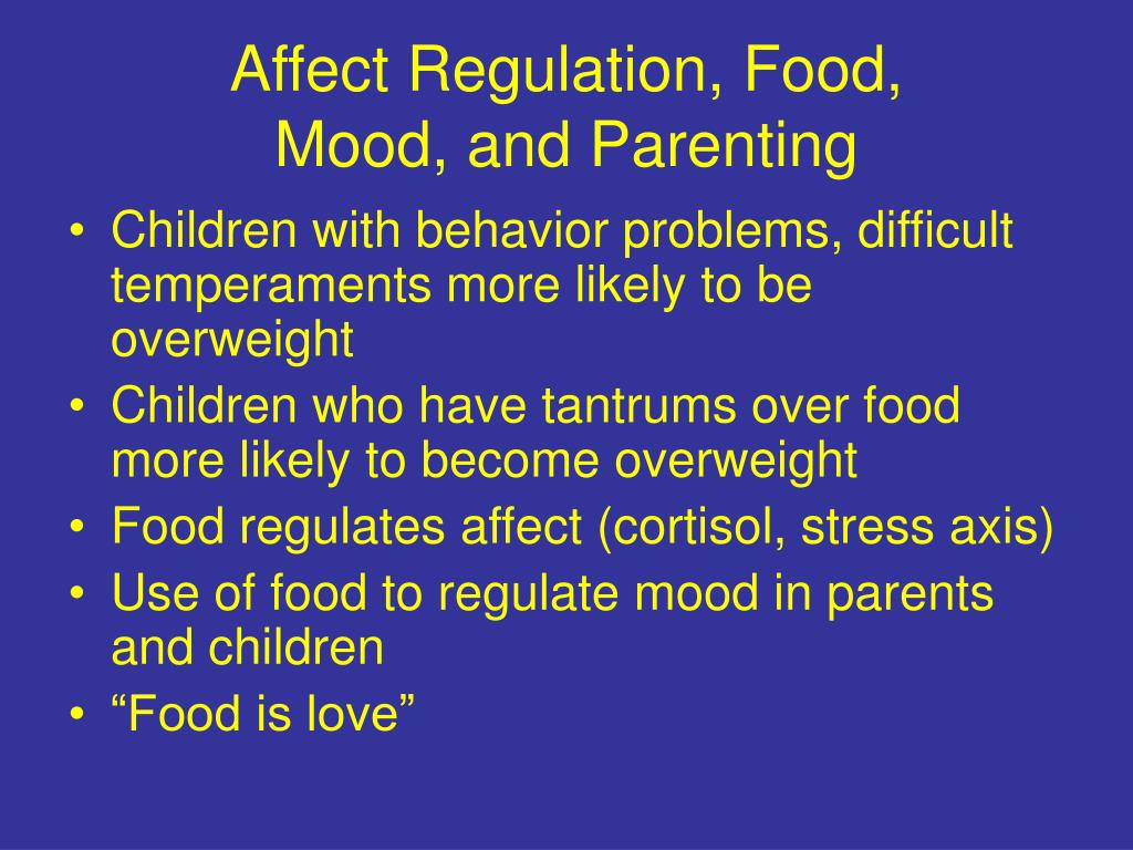 Affect Regulation, Food,