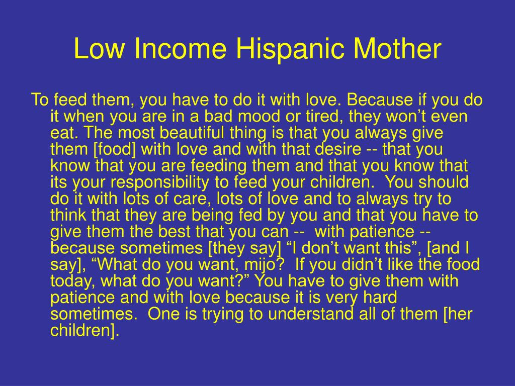 Low Income Hispanic Mother