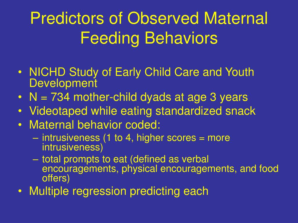 Predictors of Observed Maternal Feeding Behaviors
