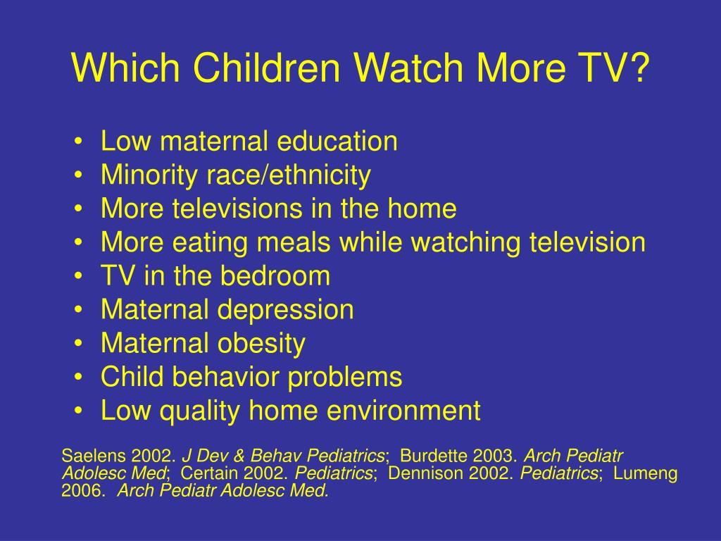 Which Children Watch More TV?