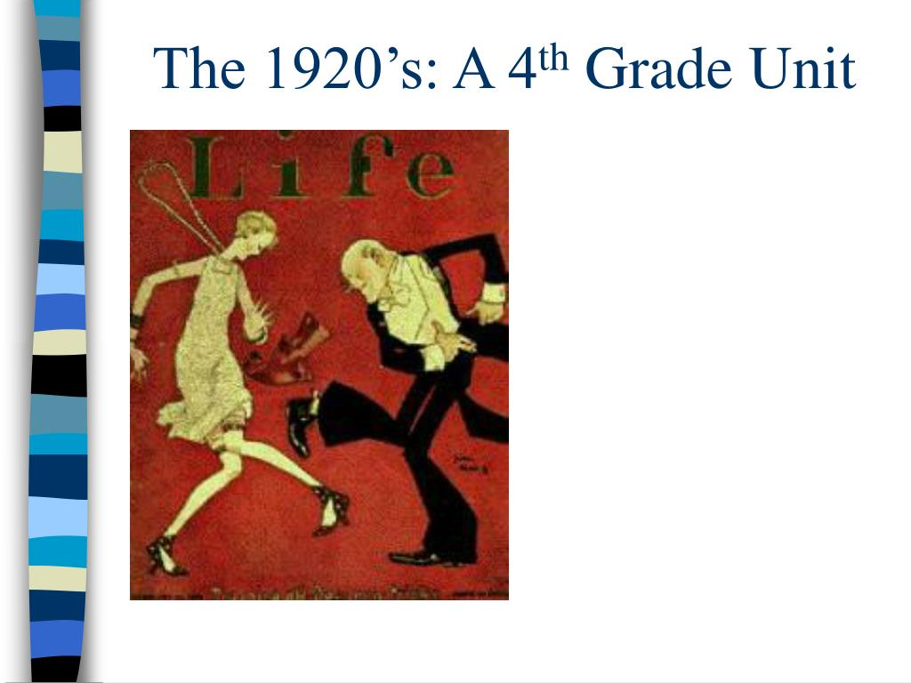 the 1920 s a 4 th grade unit