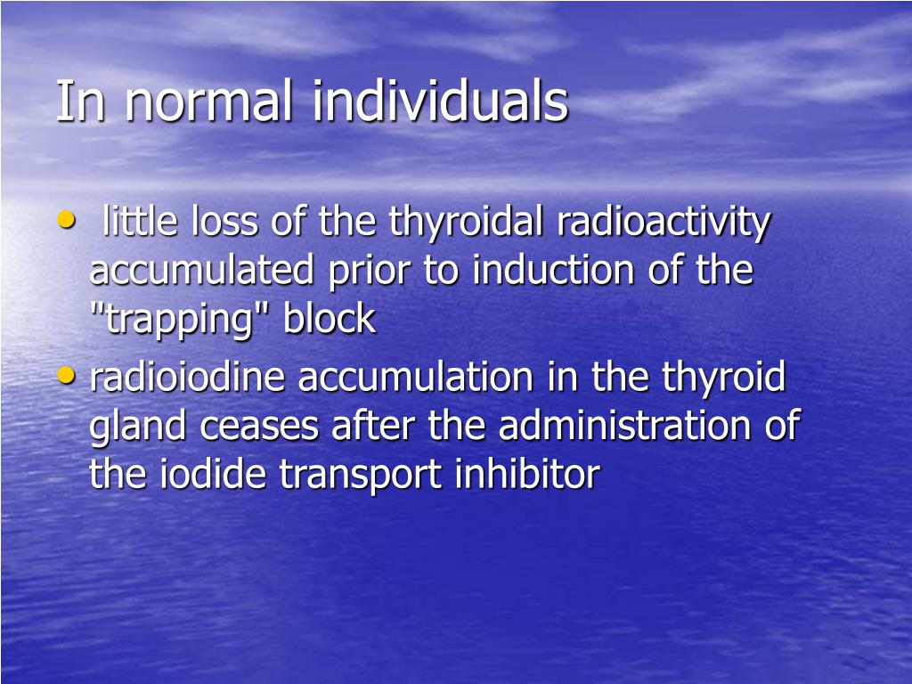 In normal individuals