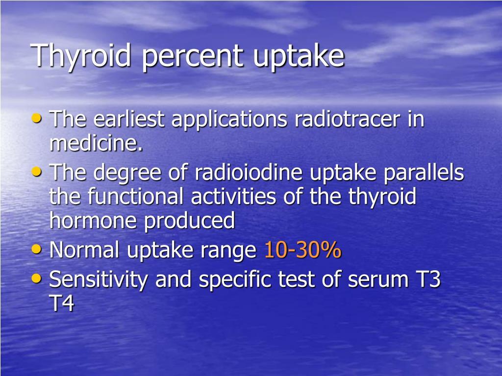 Thyroid percent uptake