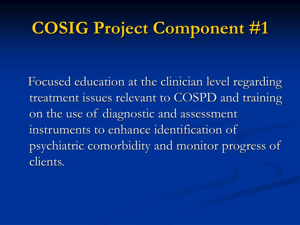 COSIG Project Component #1