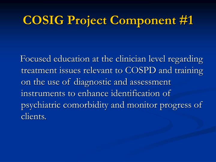 Cosig project component 1