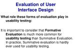 evaluation of user interface design10