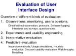 evaluation of user interface design12