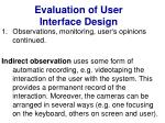 evaluation of user interface design15
