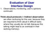 evaluation of user interface design17