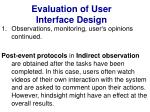 evaluation of user interface design18