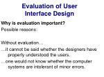 evaluation of user interface design2