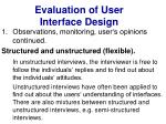 evaluation of user interface design23