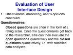evaluation of user interface design25