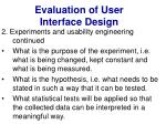 evaluation of user interface design27