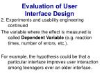 evaluation of user interface design29