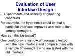 evaluation of user interface design30