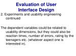 evaluation of user interface design31