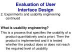 evaluation of user interface design33