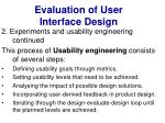 evaluation of user interface design34