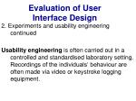 evaluation of user interface design35