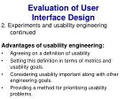 evaluation of user interface design36