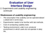 evaluation of user interface design37